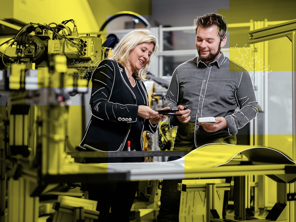 Verena Bossdorf and Christopher Kolb, Team IIoT of Audi Production Labs