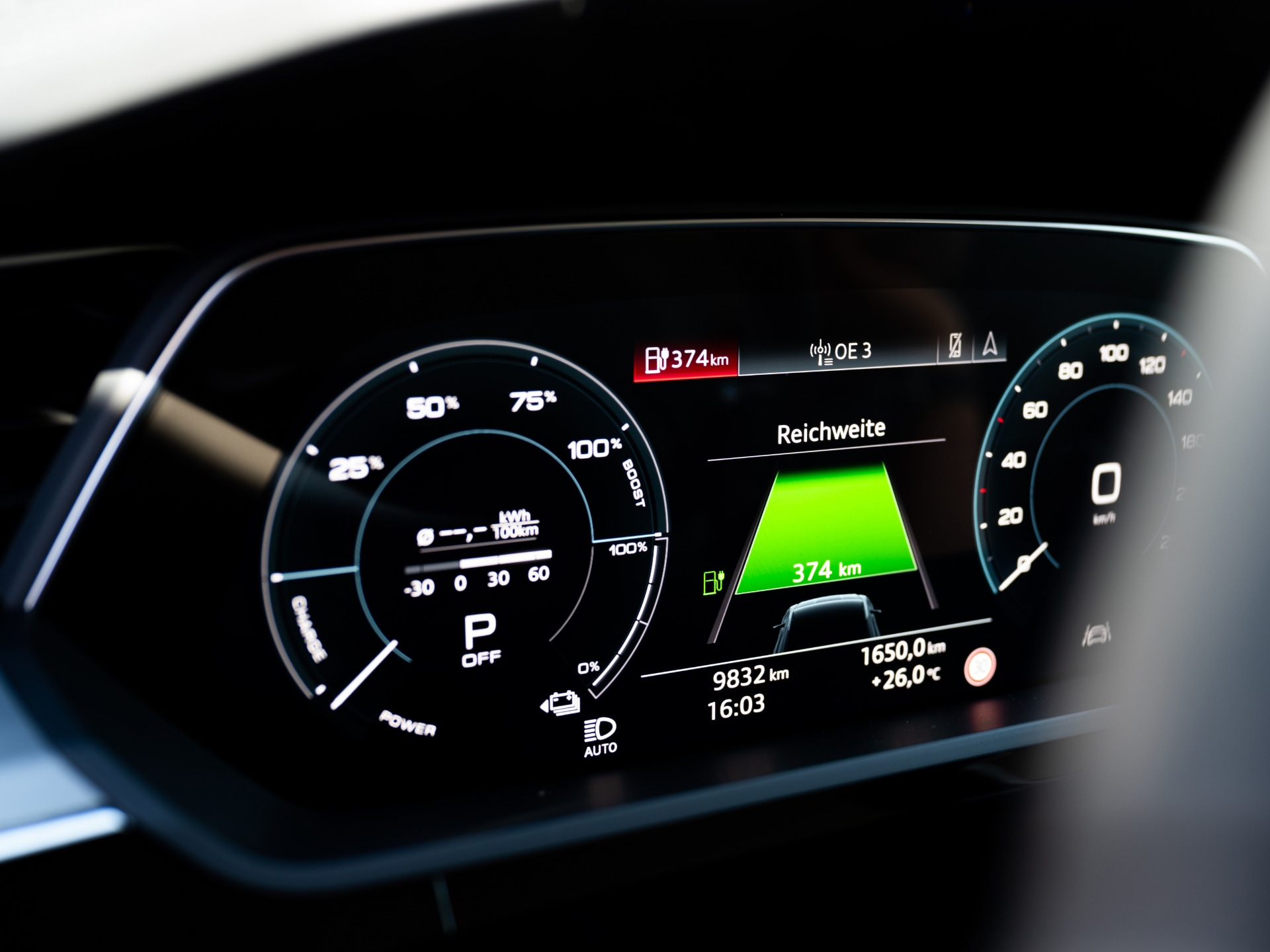The charging status always in sight - with the Audi virtual cockpit.