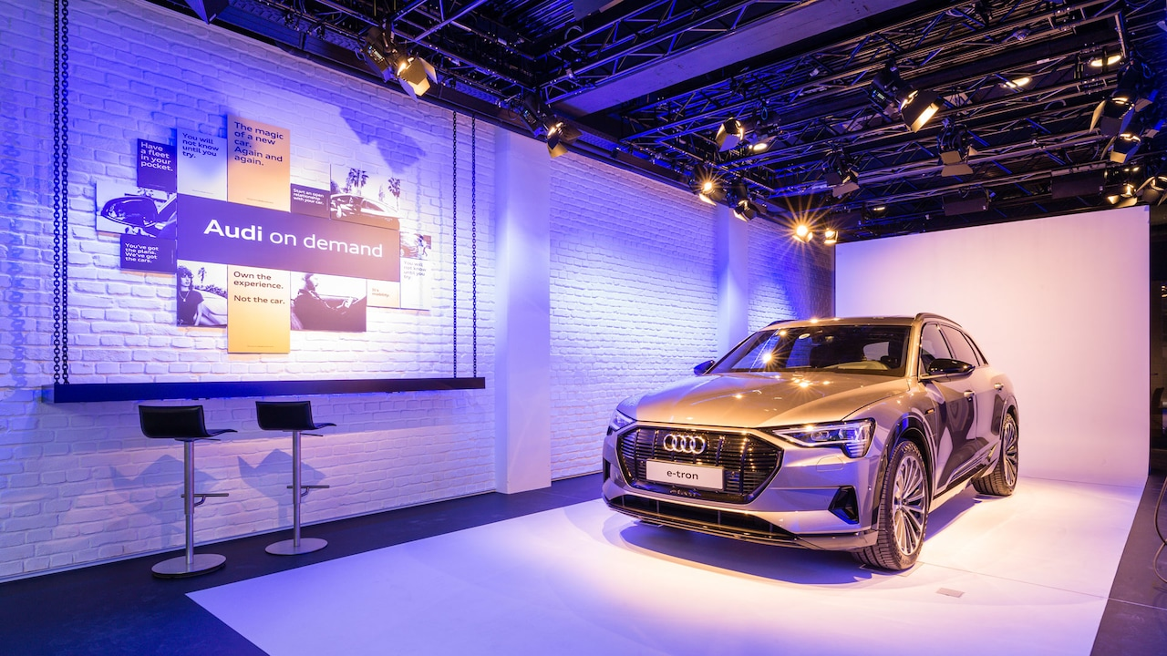 Audi e-tron im Pop-up-Store