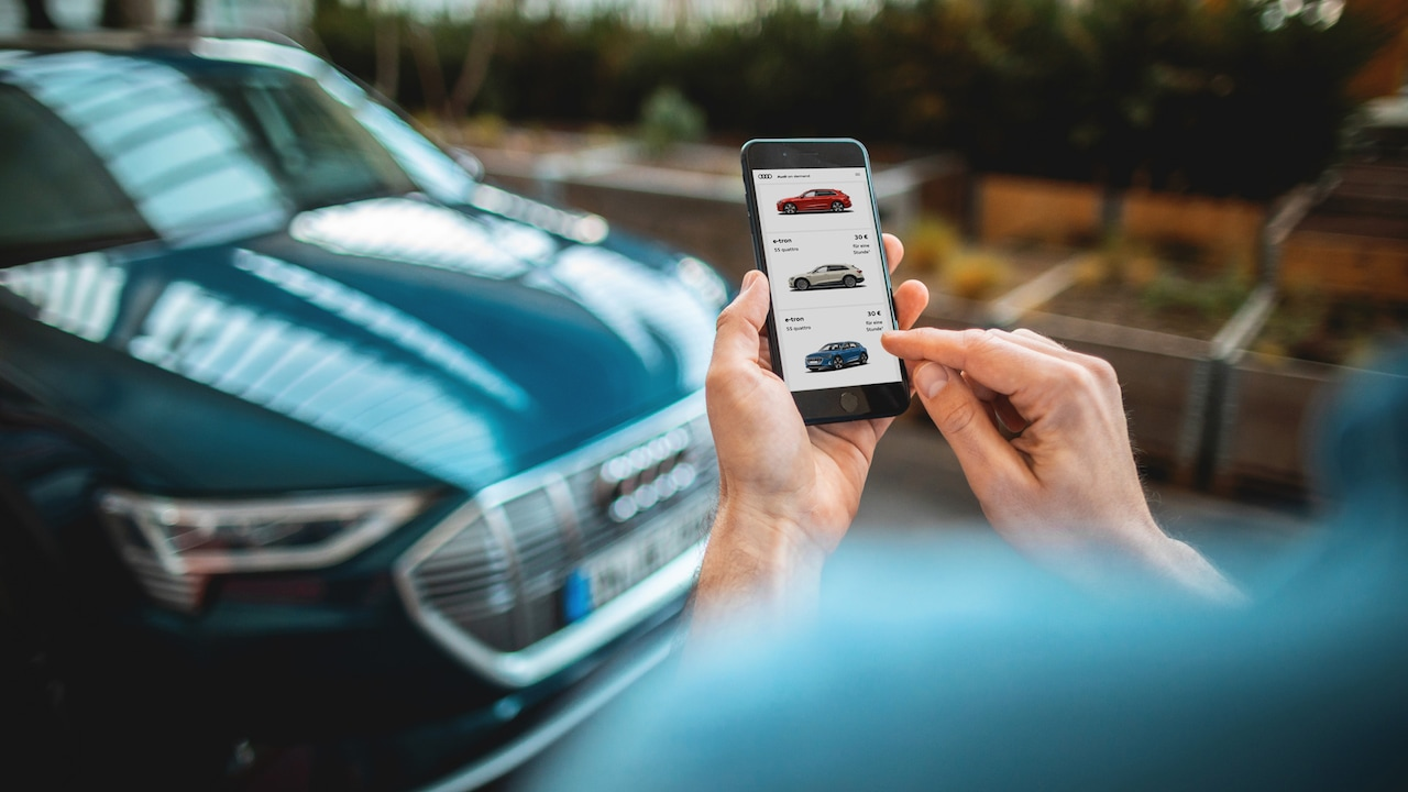 App Audi on demand auf Smartphone