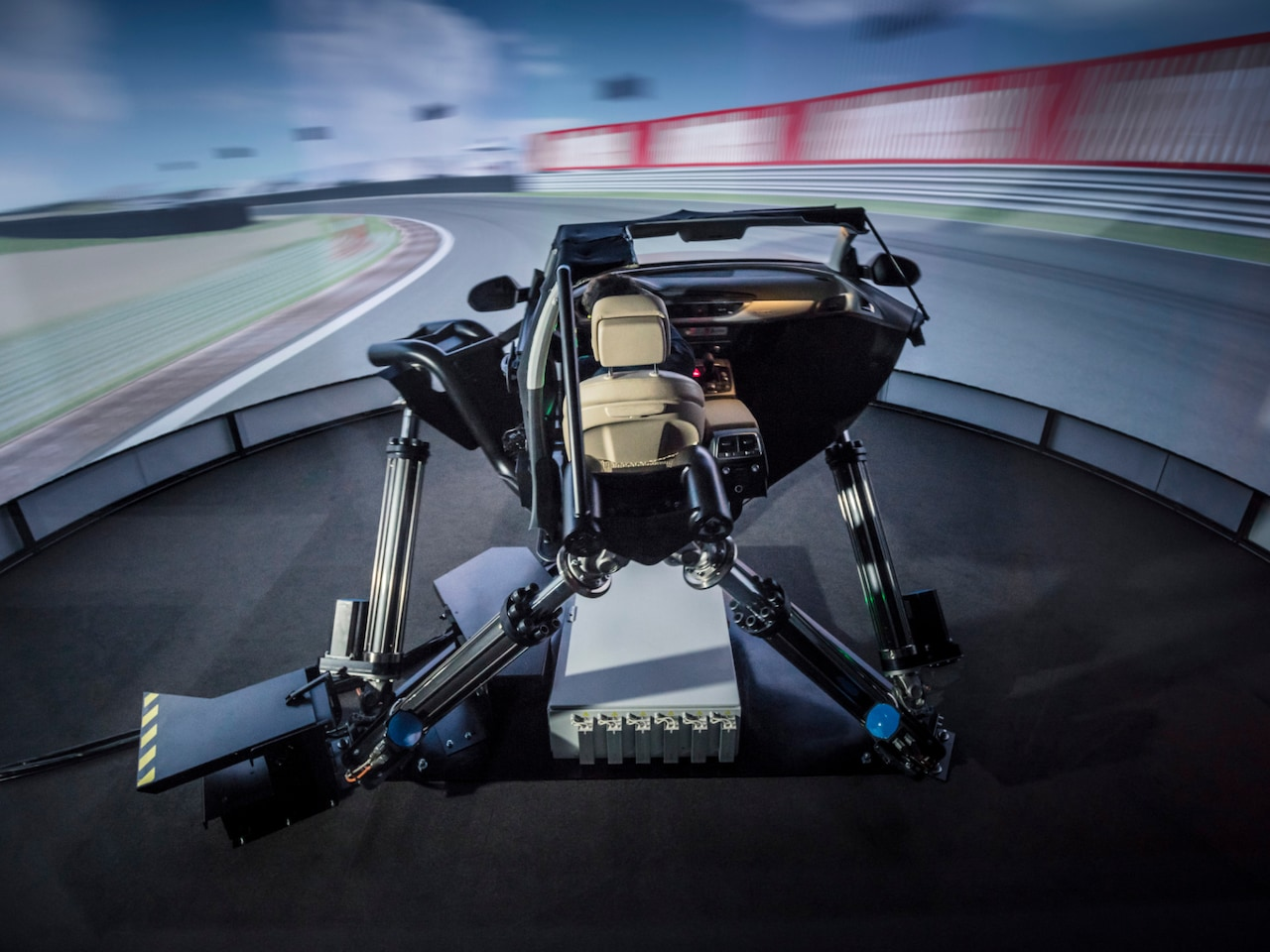 Automotive testing in the dynamic driving simulator
