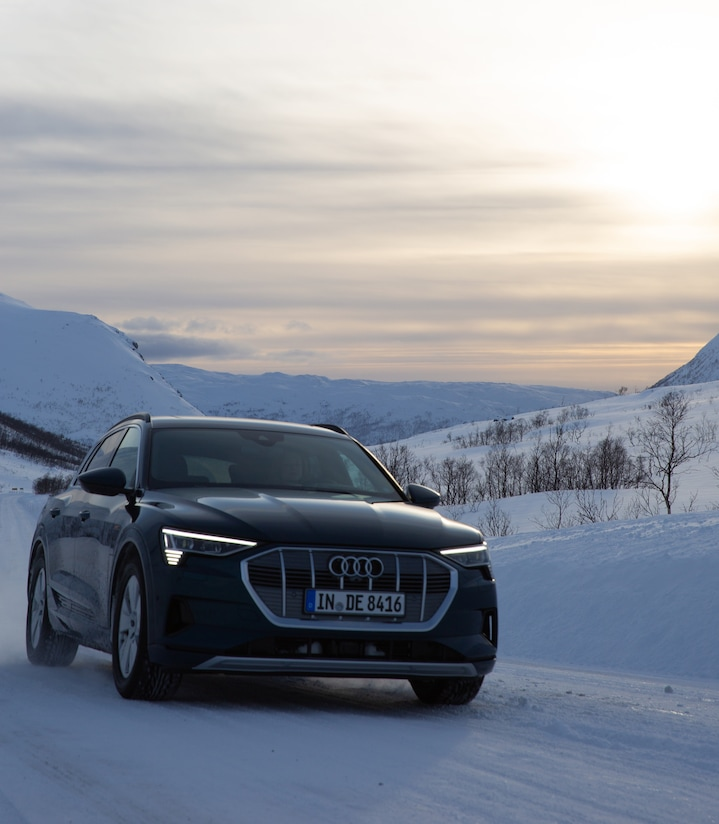 The Audi e-tron in Norway.