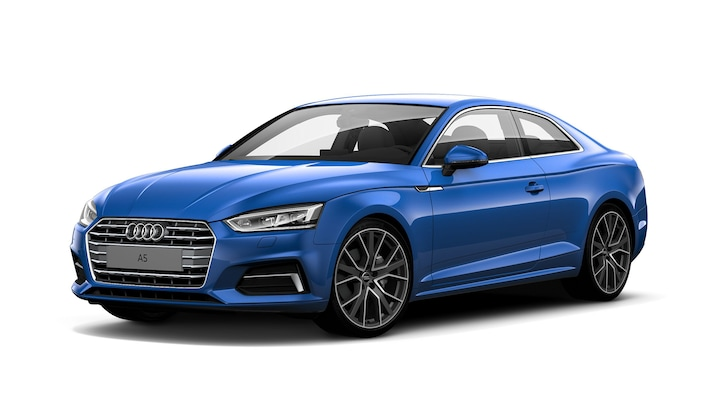 Audi A5 Coupé in Ara blue, crystal effect