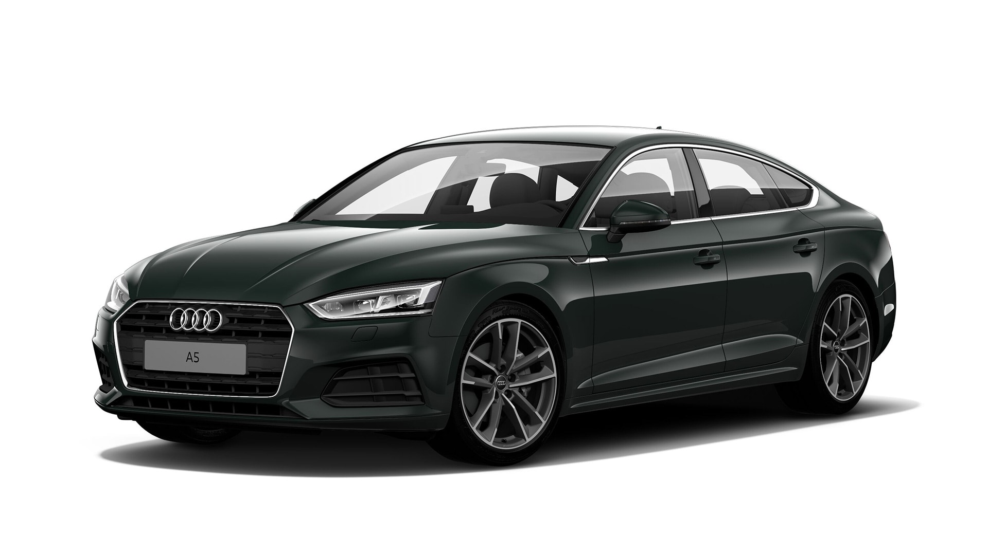 Audi A5 Sportback in Goodwood green, pearl effect