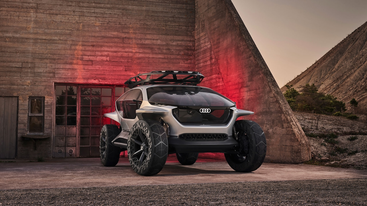 Exterior view of the AI:TRAIL concept car
