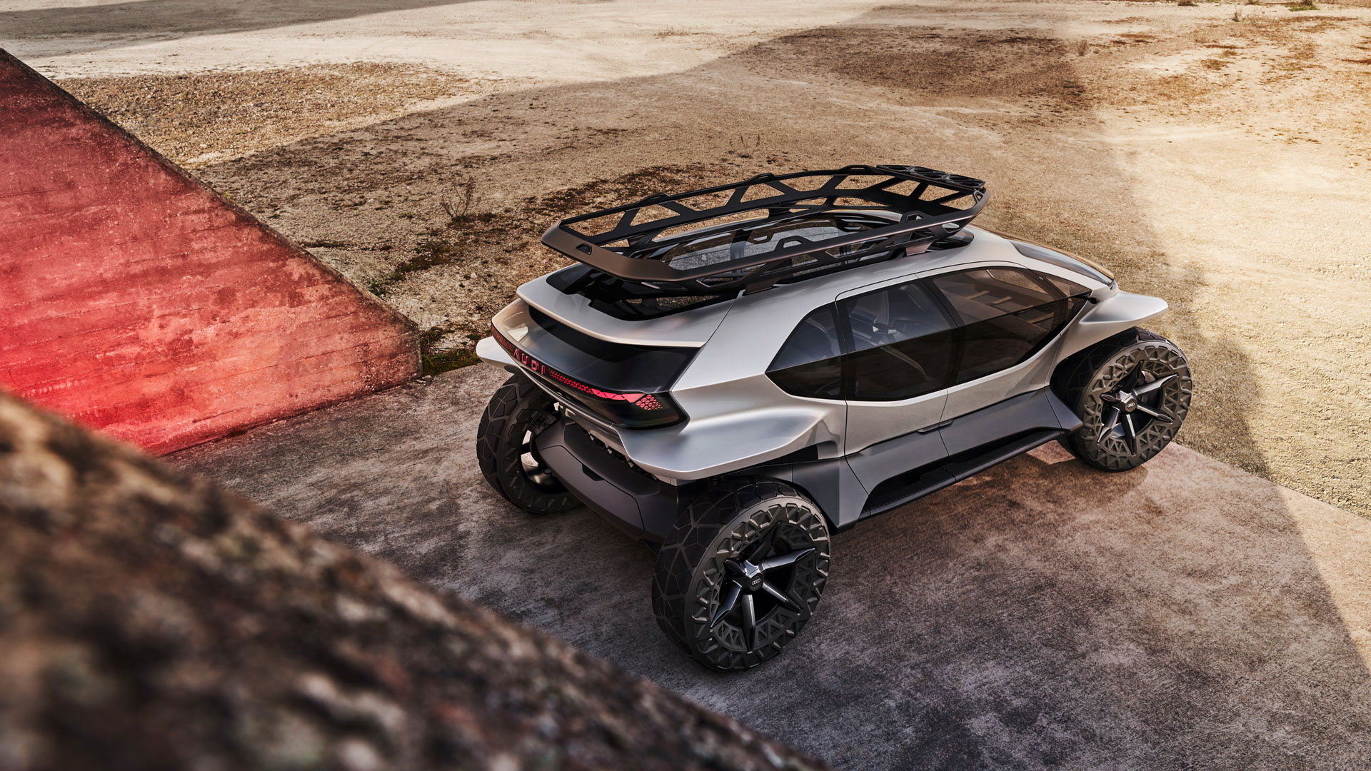 Concept Car Audi AI:TRAIL exterior with luggage rack